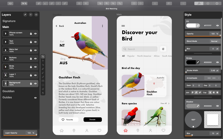 Screenshot do app Vectornator Pro - Vector Art