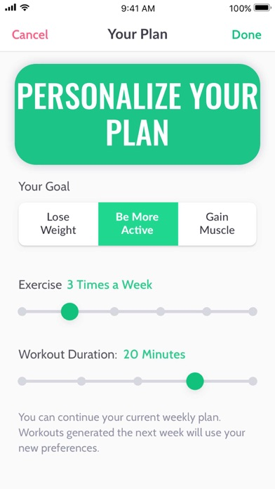 Screenshot for 30 Day Fitness in United States App Store