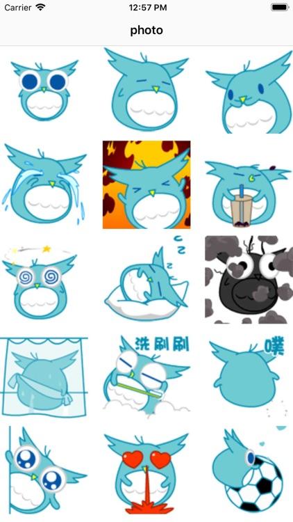 Dynamic blue cute bird-八一六