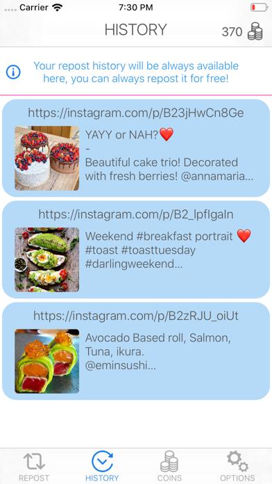 Fast Followers Repost in Insta Screenshot