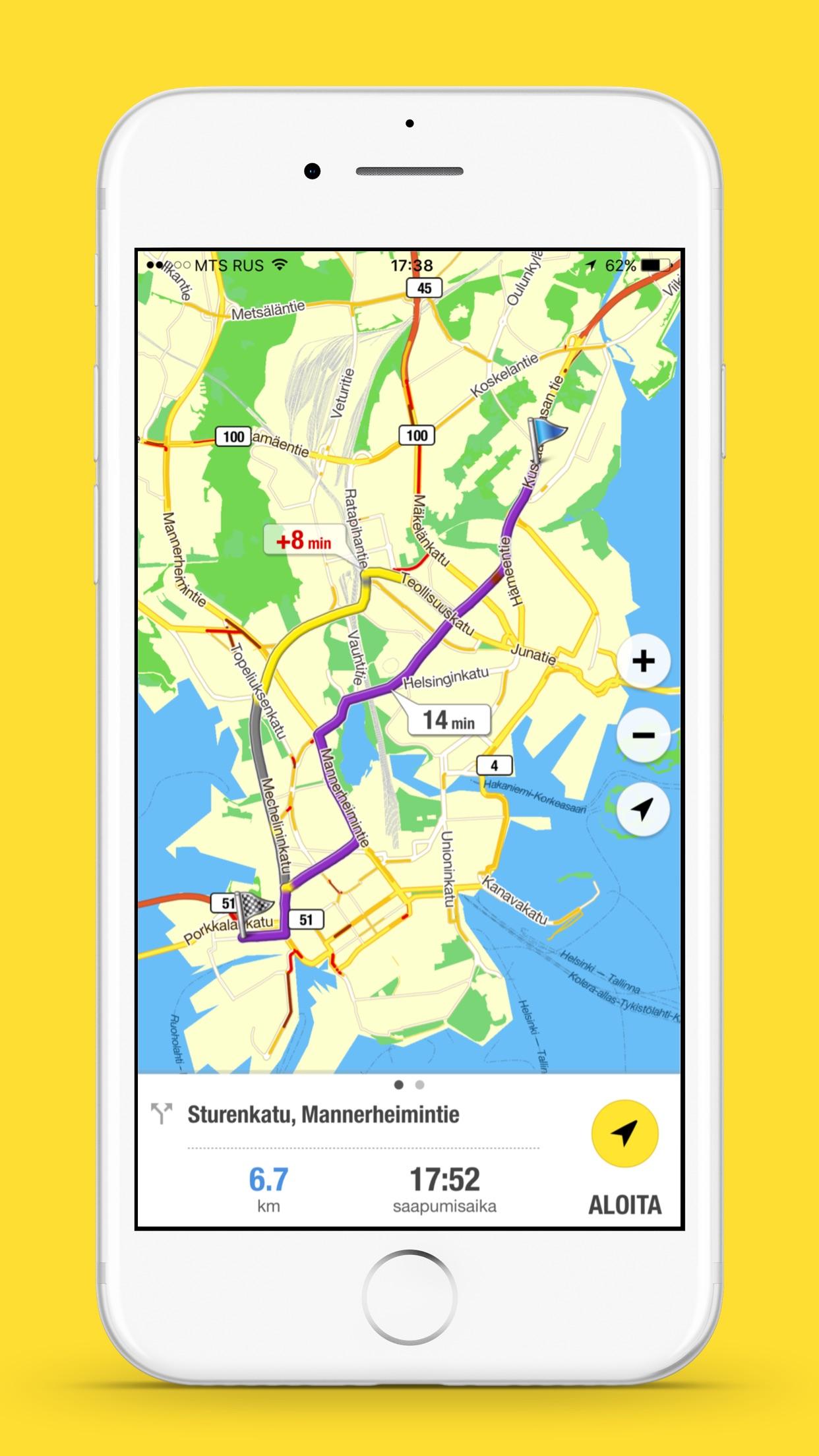 0100100 Navi–GPS Navigaatt. Screenshot