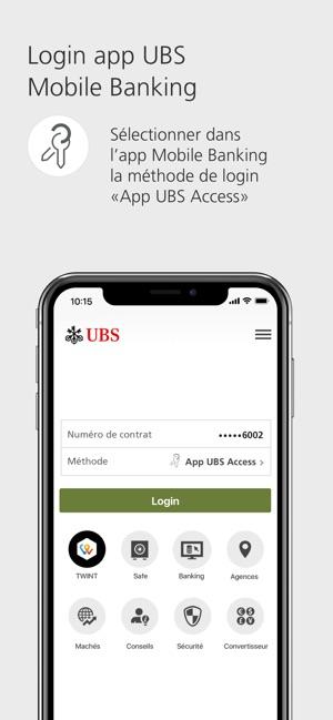 Carte Bancaire Prepayee Ubs.Ubs Access Connexion Sure Dans L App Store