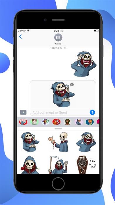Friendly Halloween Stickers screenshot 2