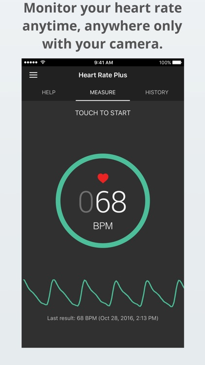 Heart Rate Plus: Pulse Monitor screenshot-0