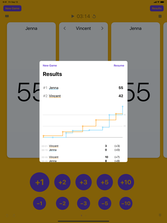 Games Keeper - Board Game Score Tracker screenshot