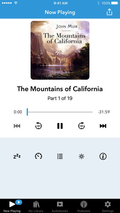 Audiobooks review screenshots