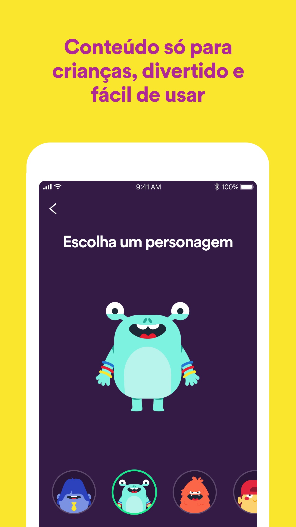 Screenshot do app Spotify Kids