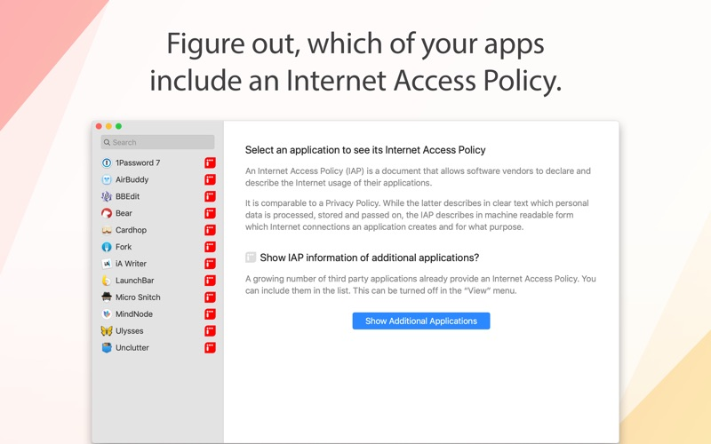 Internet Access Policy Viewer for Mac