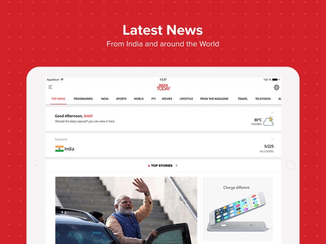 India today TV English News on the App Store