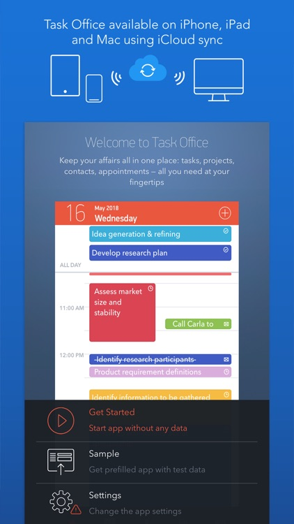 Task Office: to-do, calendar
