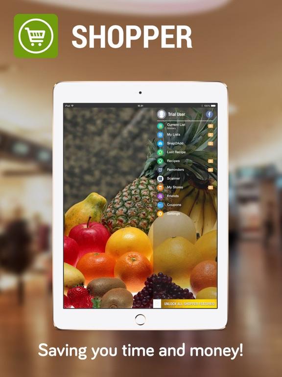 Shopper Lite - Grocery Shopping List and Recipes screenshot