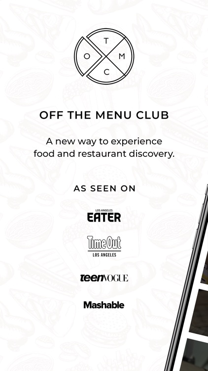 Off The Menu Club For Foodies