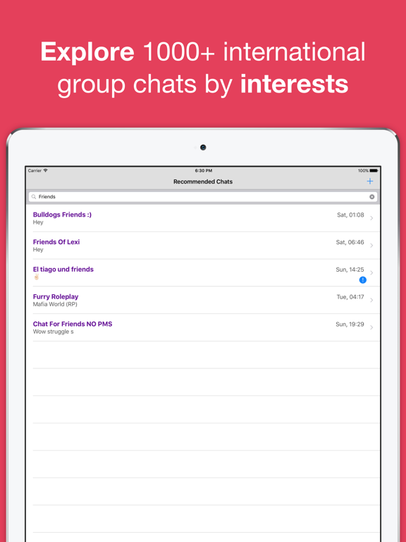 Anti Chat Rooms - Anonymous dating chatroom with strangers for sharing secret confessions & erotic stories screenshot