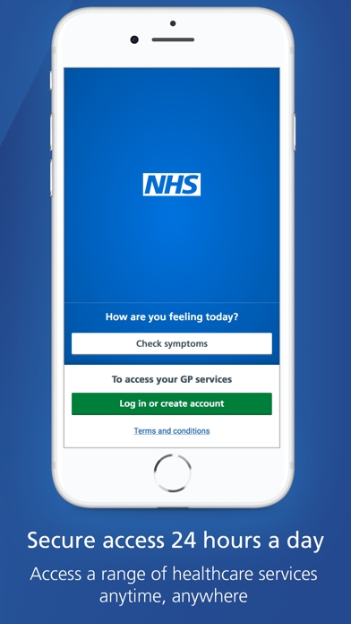 NHS App screenshot one