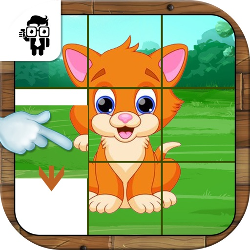Pet Animal Slide Puzzle Game
