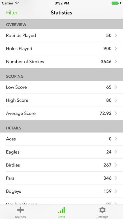 Birdies Pro: Golf Scorecard screenshot-4