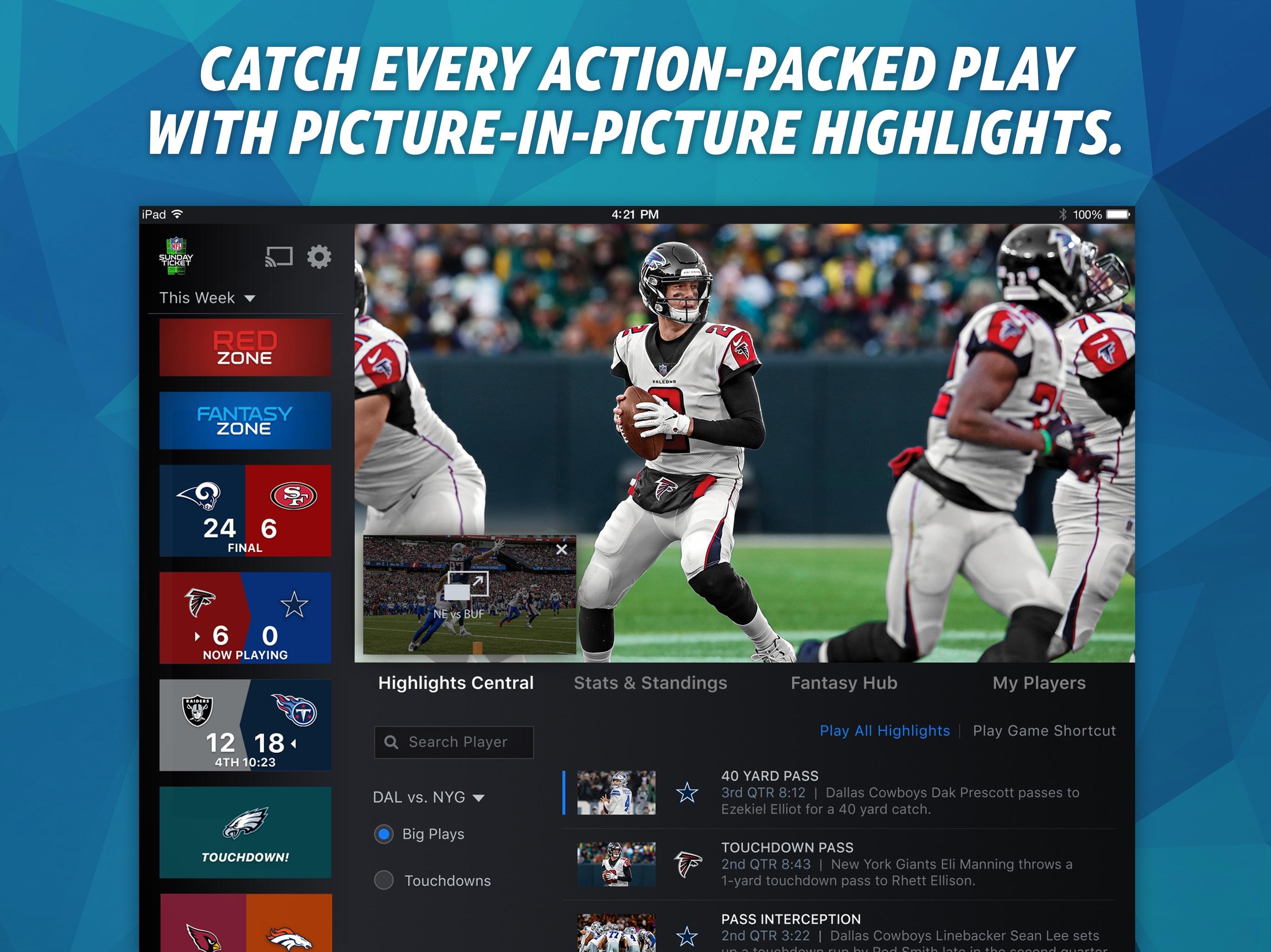 NFL SUNDAY TICKET for iPad Screenshot