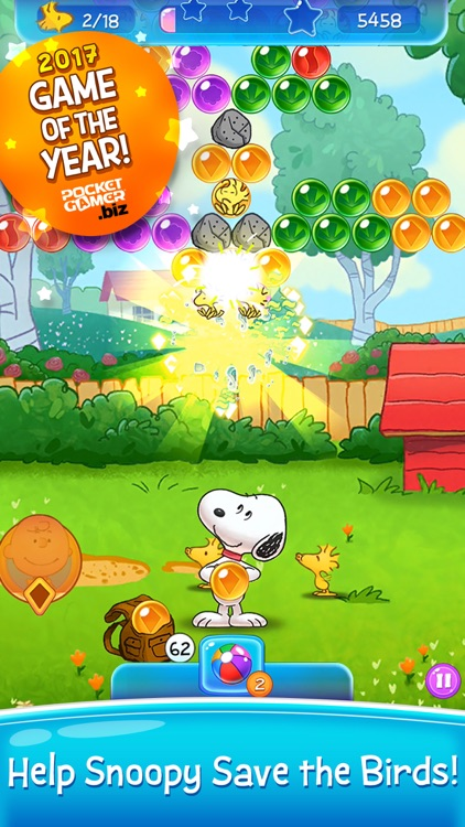 Bubble Shooter: Snoopy POP! screenshot-0