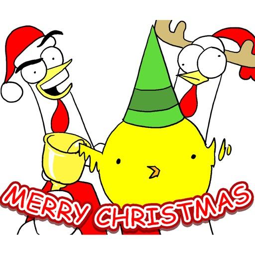 Chicken Bro Merry Xmas Sticker