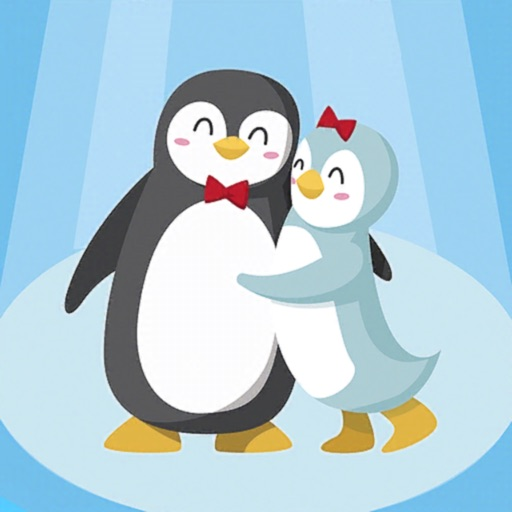 Penguin Couple: Ice Breaking
