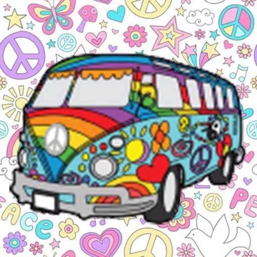 Hippie - Peace Sign  Stickers
