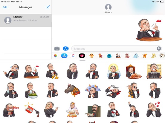 Business Style Funny Stickers screenshot 5