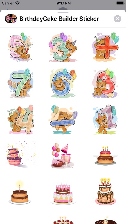 Birthday Cake Builder Sticker screenshot-3