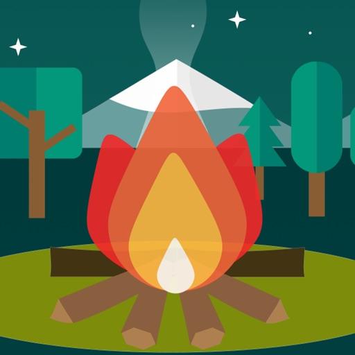 焚き火チャット - 癒しのトーク/メッセージ