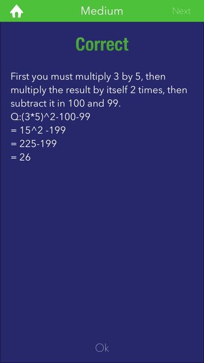 MathQuiz - A Trivia for all screenshot-3