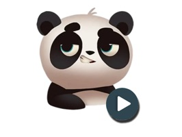 Make your messages and conversations stand out with excellent animated animals and Panda stickers