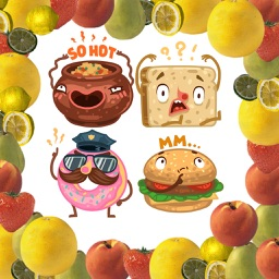 Animated Meals Stickers