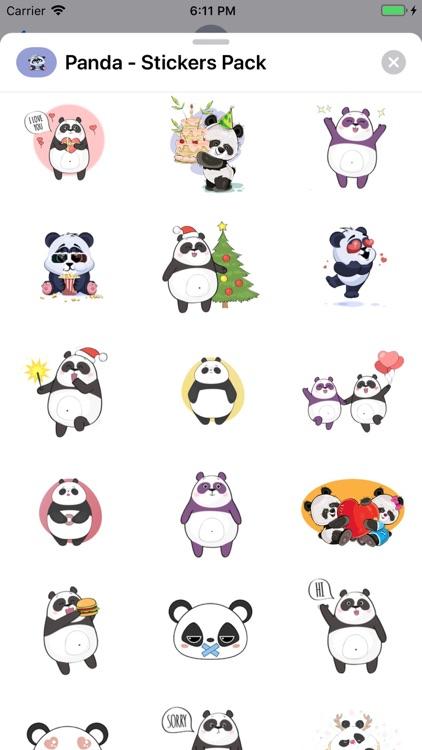 Panda - Stickers Pack screenshot-3