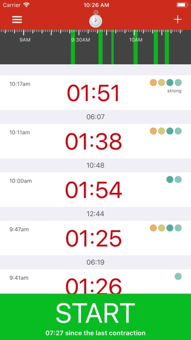Screenshot for Contraction Timer - Time labor in Denmark App Store