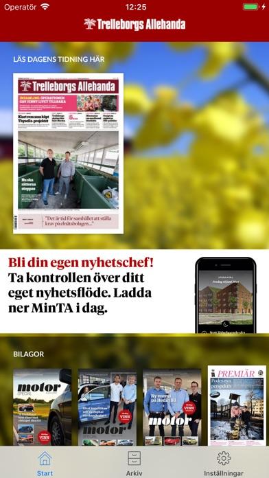 eTA Screenshot on iOS