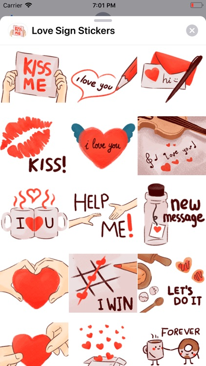 Love Sign Stickers