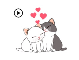 So Cute Kitty Animated Sticker