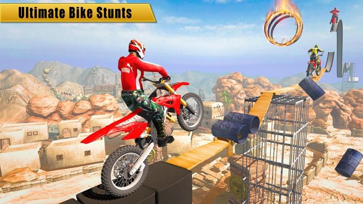 Bike racing megaramp stunts 3D screenshot-3