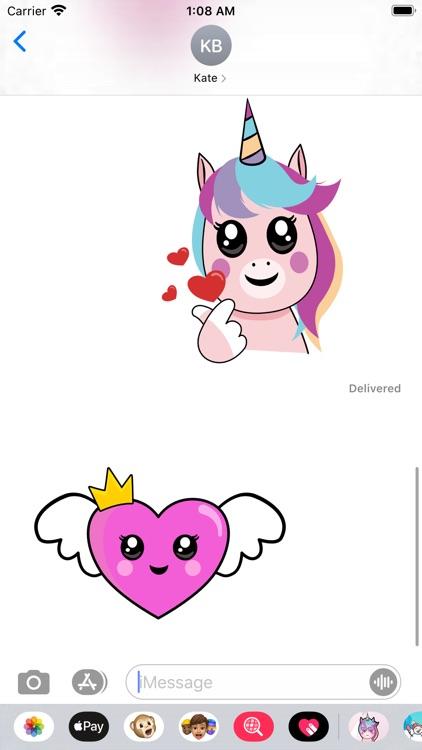 Unicorn Valentine Sticker screenshot-7