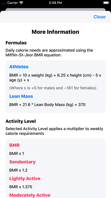 IIFYM Macro/Calorie Calculatorのおすすめ画像6