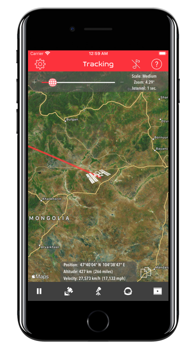 Screenshot #1 pour ISS Real-Time Tracker