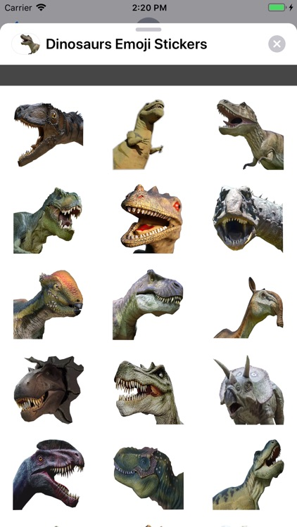 Dinosaurs Emoji Stickers