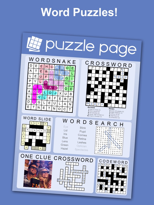 Puzzle Page Daily Puzzles On The App Store