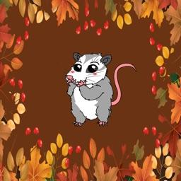 Mitzi Opossum Emoji's