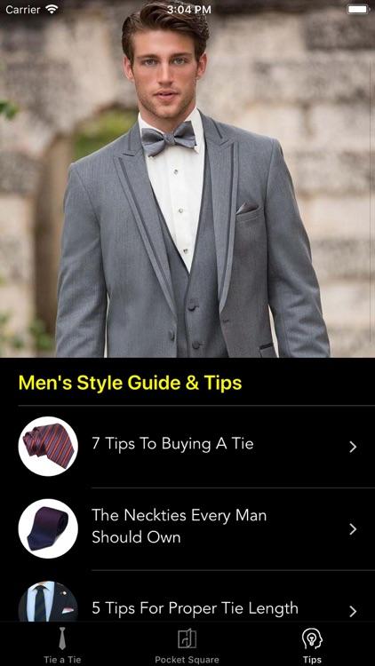 How To Tie a Tie • screenshot-7