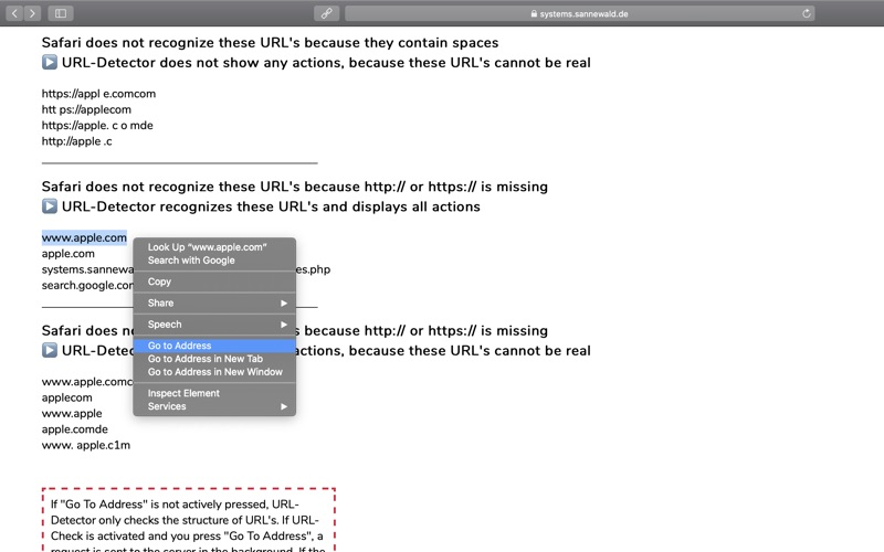 URL-Detector for Safari скриншот программы 8