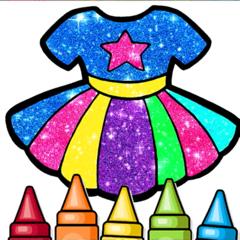 Glitter Dresses Coloring Book