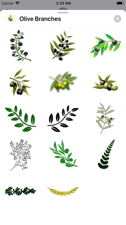 Olive Branch Stickers