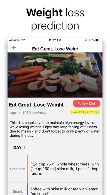Diet Plan + Weight Loss App
