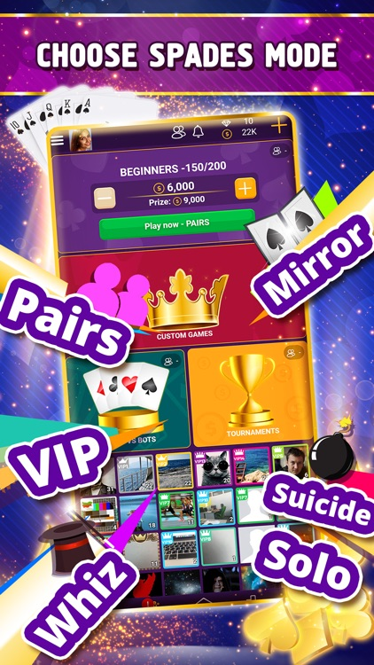 VIP Spades - Online Card Game screenshot-3