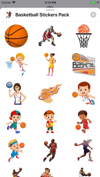 Basketball Stickers Pack